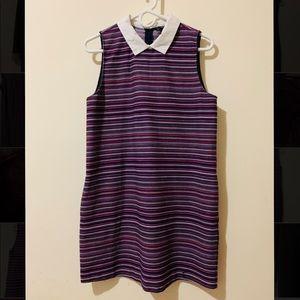 Zara Trafaluc Peter Pan Collard Stripe Dress